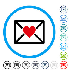 love letter rounded icon vector image