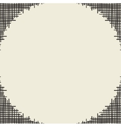 Abstract canvas hole grungy frame vector