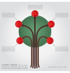 Abstract tree with space for text vector image