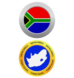 Button as a symbol map south africa vector