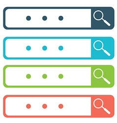 Set of search bars flat web design elements vector image