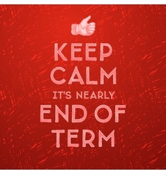 Schools out end of term vector