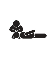 Stylish black and white icon first aid vector