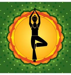 green chakra vector image