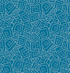 Seamless pattern from squares spirals rhombus vector