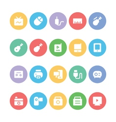 Multimedia colored icons 11 vector