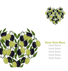 Olive invitation vector