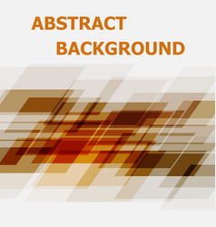 abstract orange geometric overlapping design vector image vector image