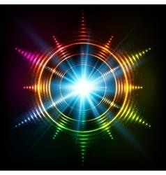 Abstract rainbow neon spirals cosmic star vector