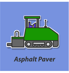 Asphalt paver color flat icon vector