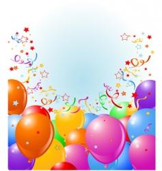 balloons border vector image