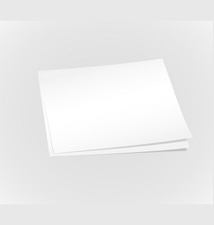 Blank white papers background vector