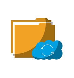 Cloud folder storage sharing system file vector