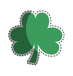 Clover plant decoration design vector
