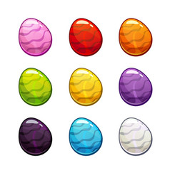 colorful cartoon eggs set vector image vector image