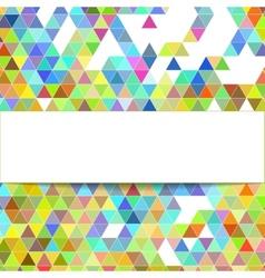 design geometrical background vector image