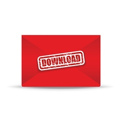 download red closed envelope vector image vector image