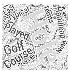 Explanation of popular golf terms word cloud vector