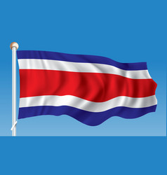 Flag of costa rica vector