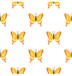 Flat style seamless pattern with butterfly vector