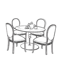 Furniture in summer cafe vector image vector image