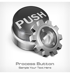 Grey button with dollar vector image vector image