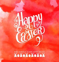 Happy easter watercolor inscription vector image