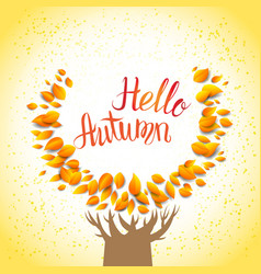 Hello autumn tree vector