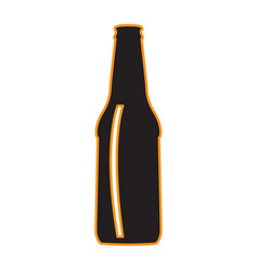 Isolated beer bottle icon vector
