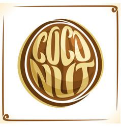 Logo for coconut vector