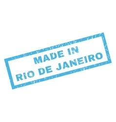 Made in rio de janeiro rubber stamp vector