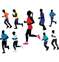 marathon collection - vector image vector image