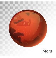 Mars planet 3d vector image vector image