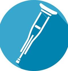 Metal Crutches Icon vector image