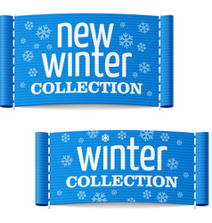 New winter collection clothing labels vector image