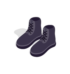 Pair of male boots icon isometric 3d style vector image vector image