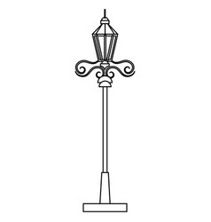 park lantern isolated icon vector image vector image