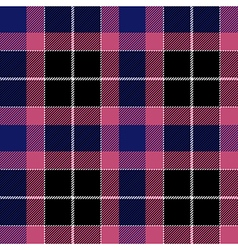 Pink blue check plaid seamless fabric texture vector