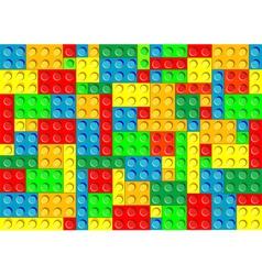 plastic blocks vector image