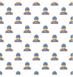 Plumber man face pattern seamless vector