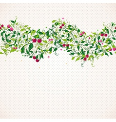 Seamless pattern garland with cherry vector image vector image