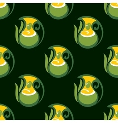 Seamless pattern of olive oil in jugs vector image