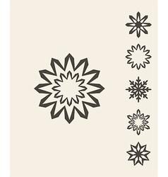 Snowflake vintage vector