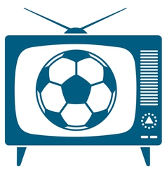 Soccerball in retro TV vector image vector image
