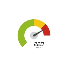 Speedometer icon isolated on white vector image vector image