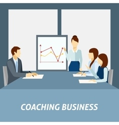 Successful business coaching poster vector