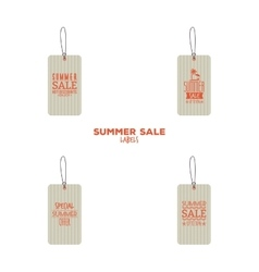 Summer sale labels vector