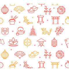 symbol of china pattern background vector image vector image