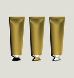 Tubes for packaging gold set vector