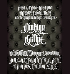 Vintage gothic font vector
